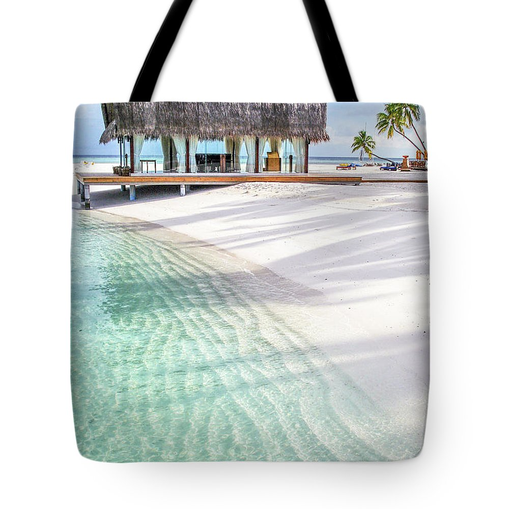 Jenny Rainbow Fine Art Photography Tote Bag featuring the photograph Early Morning At The Maldivian Resort 1 by Jenny Rainbow