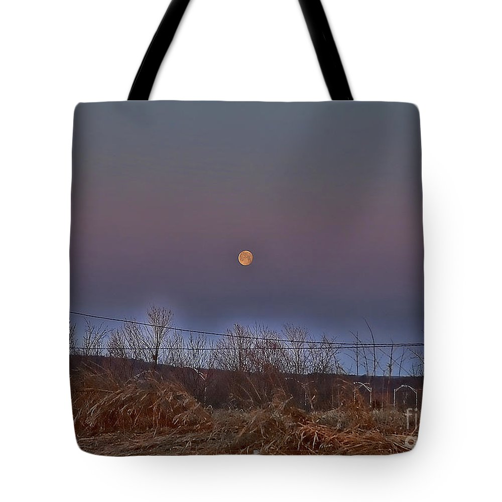 Moon Tote Bag featuring the photograph Early Morning Dream by Edward Sobuta