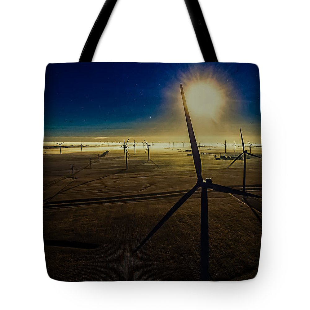 Twin Groves Tote Bag featuring the photograph Early Morning Flight 1 by Jim Finch