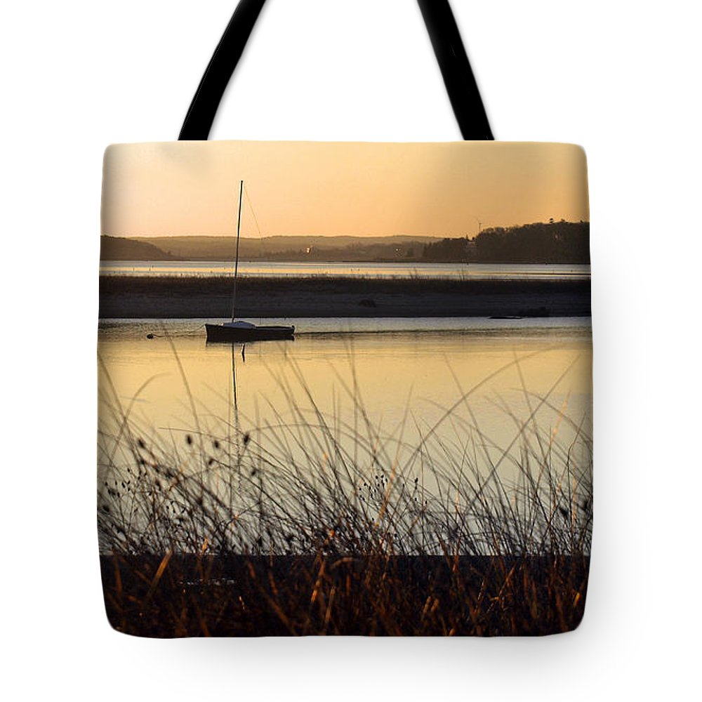 Sunrise Tote Bag featuring the photograph Early Morning Haze by Bruce Gannon
