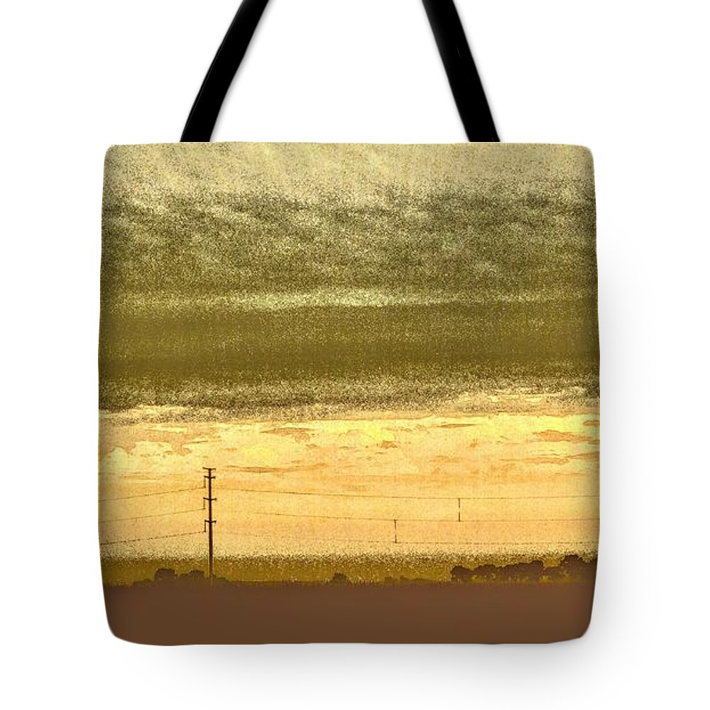 Sunrise Tote Bag featuring the photograph Early Morning In The Heartland by Curtis Tilleraas