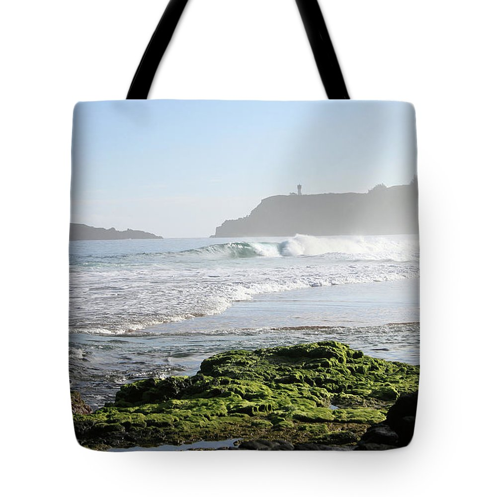 Ocean Tote Bag featuring the photograph Early Morning On Secret Beach by Mary Haber