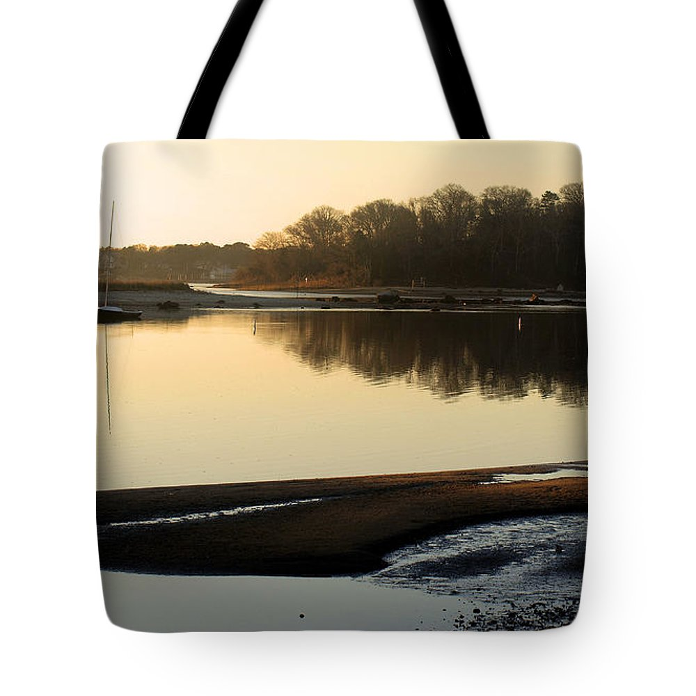 Early Morning Tote Bag featuring the photograph Early Morning Reflections by Bruce Gannon