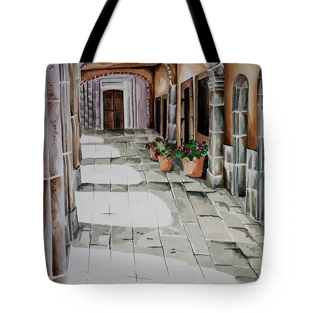 Mexican City Painting Tote Bag featuring the painting Early Morning San Miguel by Kandyce Waltensperger