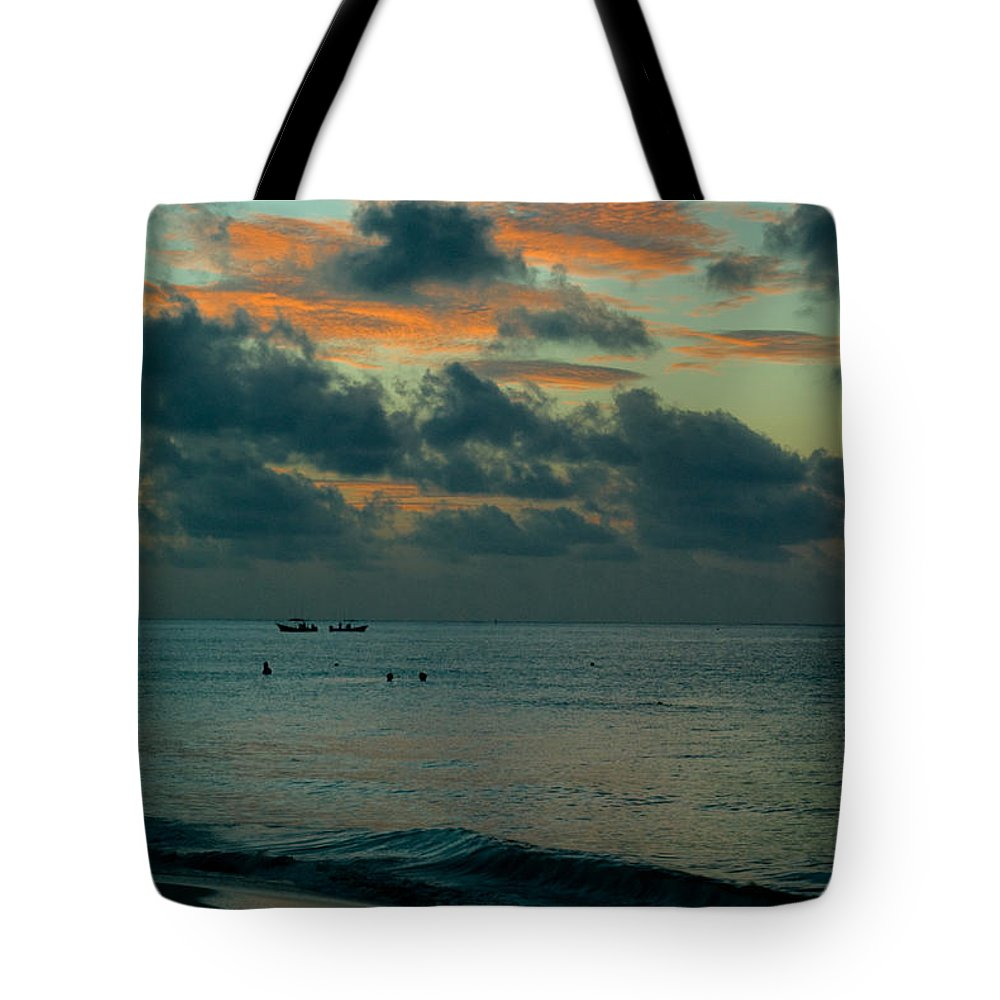 Sea Tote Bag featuring the photograph Early Morning Sea by Douglas Barnett