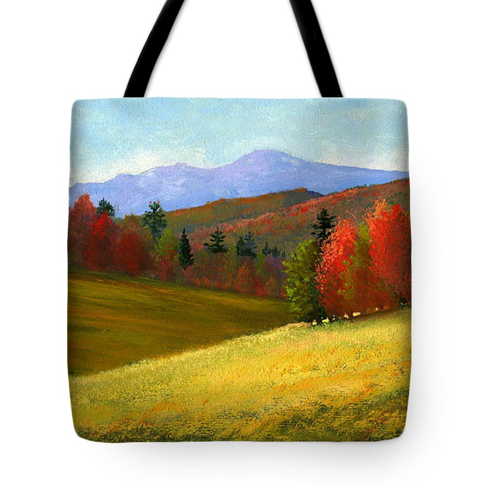 Landscape Tote Bag featuring the painting Early October by Frank Wilson