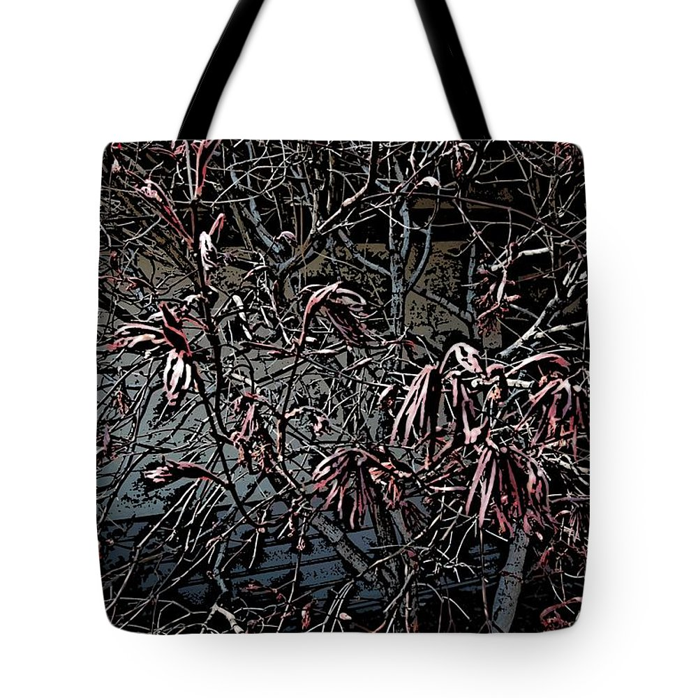 Digital Photography Tote Bag featuring the digital art Early Spring Abstract by David Lane