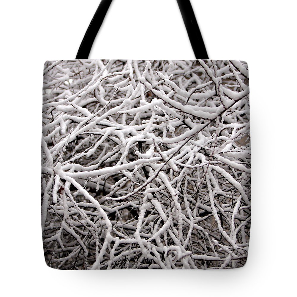 Abstract Tote Bag featuring the photograph Early Spring Snow by James BO Insogna