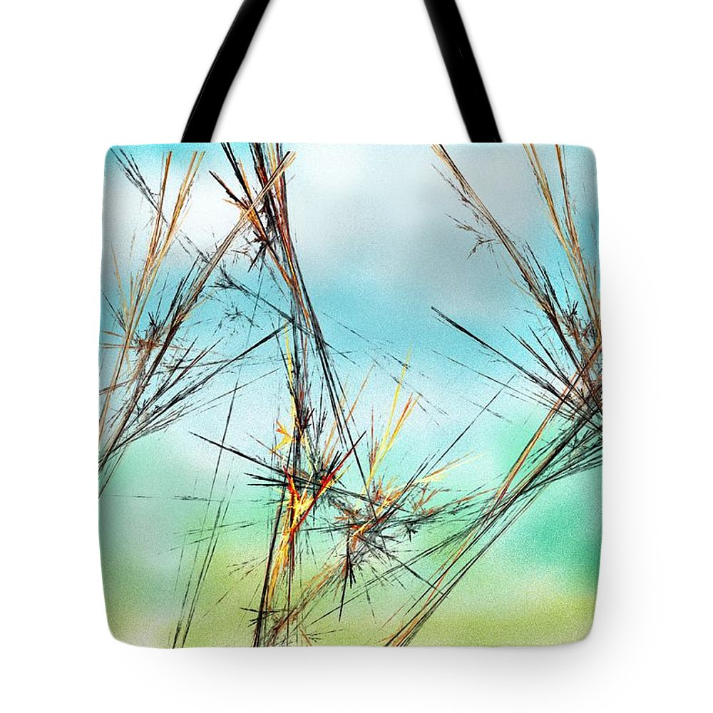 Digital Painting Tote Bag featuring the digital art Early Spring Twigs by David Lane