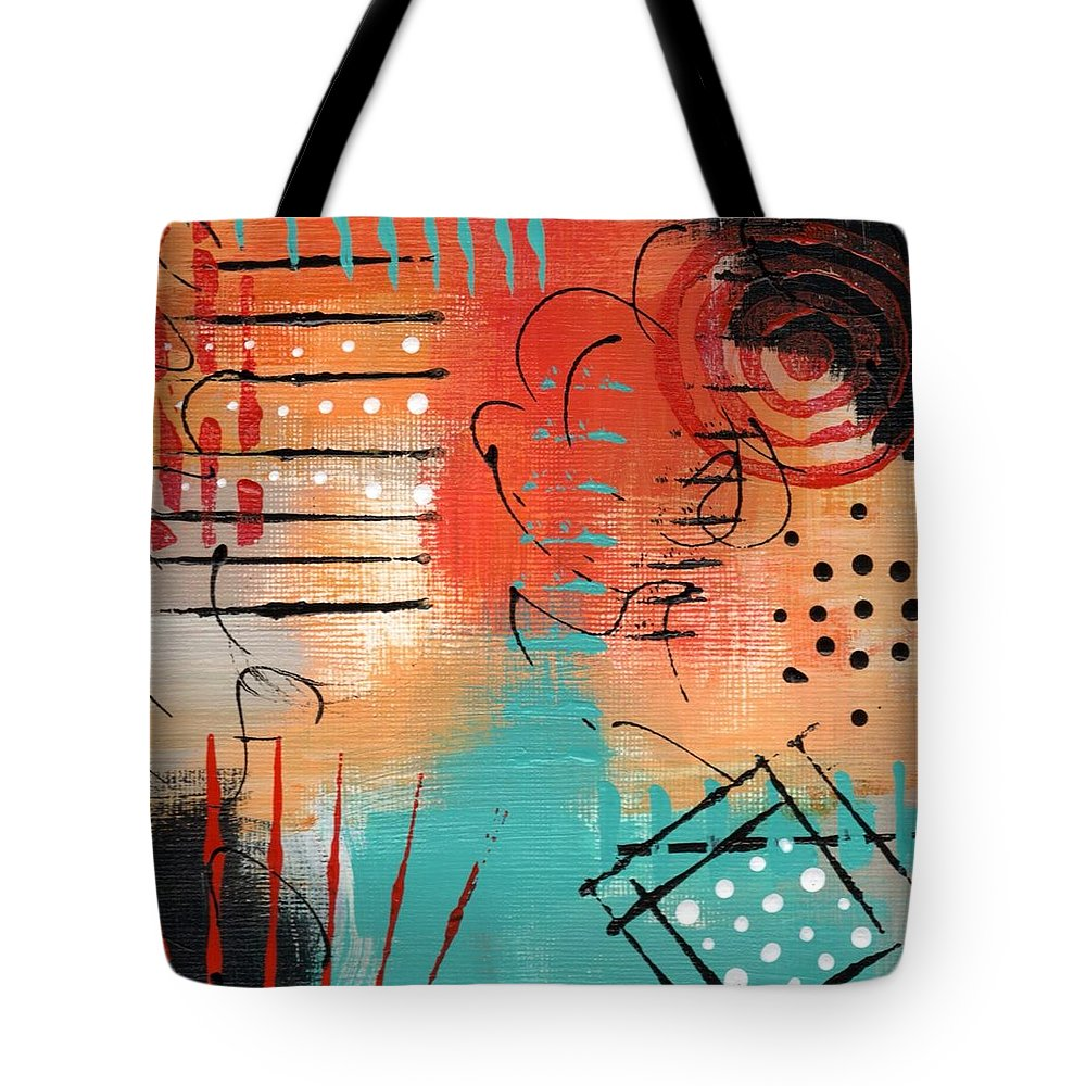 Abstract Tote Bag featuring the painting Early Stage Three by Suzzanna Frank
