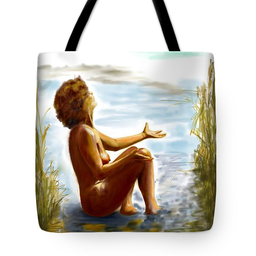 Lady Tote Bag featuring the digital art Early Summer In Bavaria by Helmut Rottler