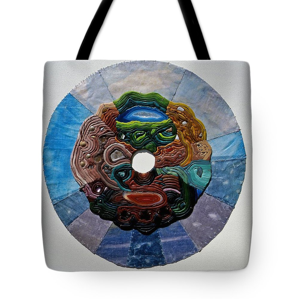Mandala Tote Bag featuring the relief Earth And Sky by Arla Patch