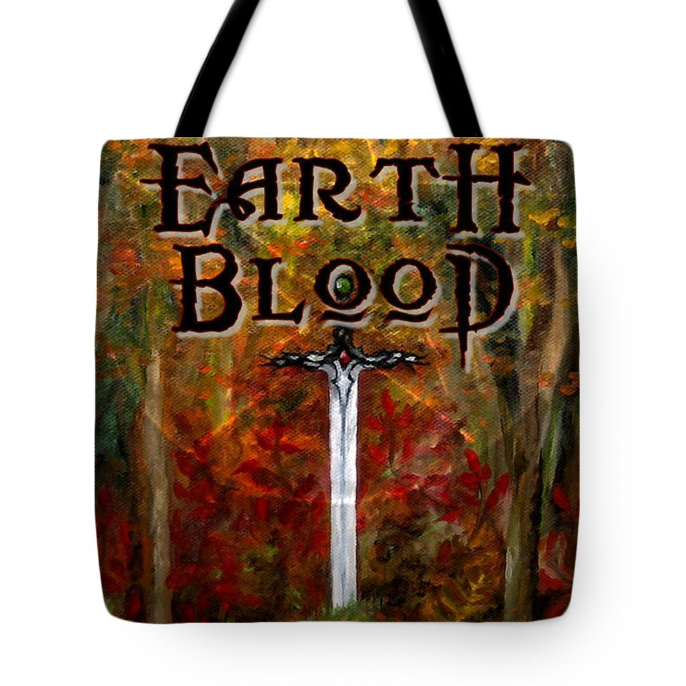 Cover Art Tote Bag featuring the painting Earth Blood Cover Art by FT McKinstry