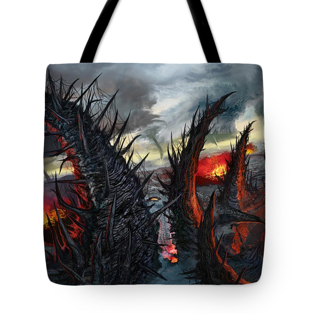 Kamikabe Tote Bag featuring the mixed media Earth Gives Back by Tony Koehl