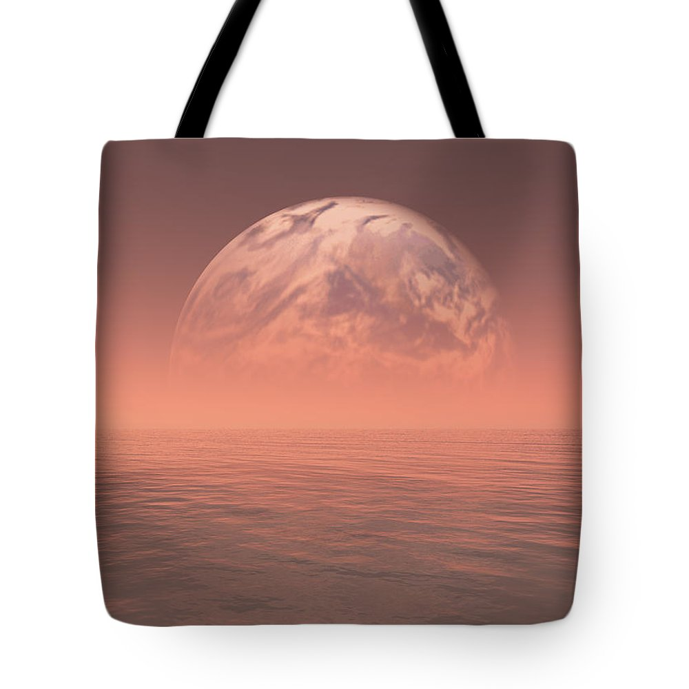 Space Tote Bag featuring the digital art Earth by Jay Salton