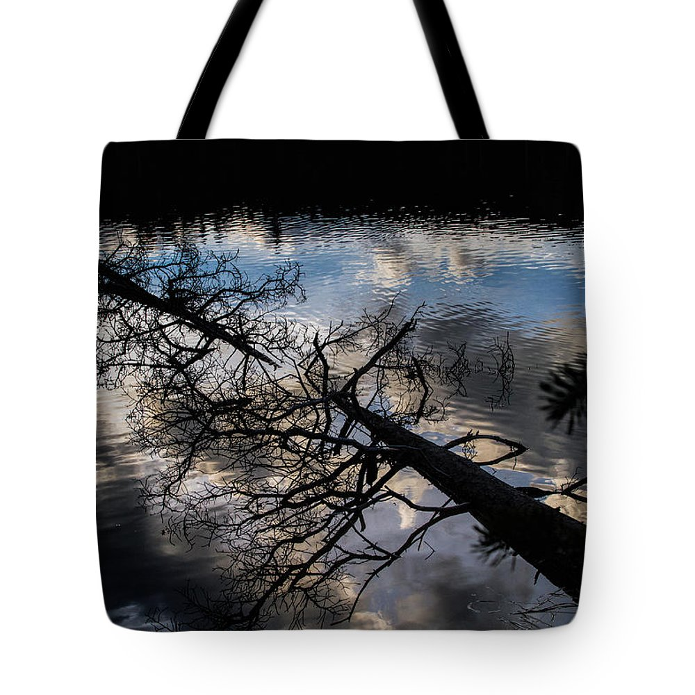 Reflection Tote Bag featuring the photograph Earth to Water by Alana Thrower