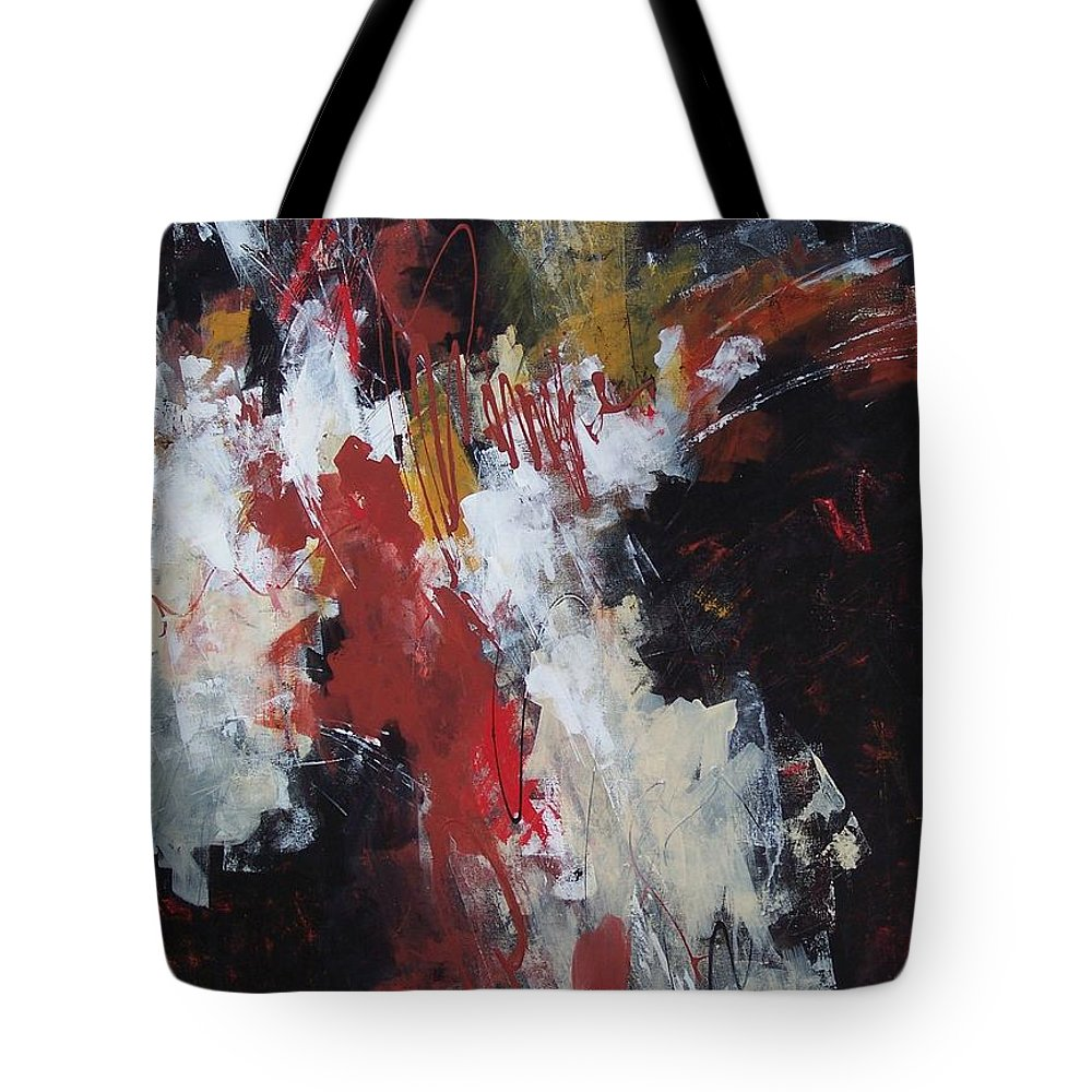 Abstract Expressionism Tote Bag featuring the painting Earth's Voice by Donna Frost