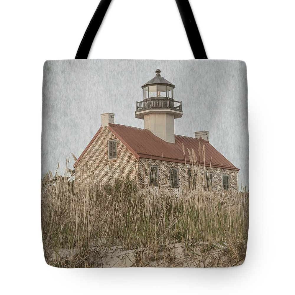 (architecture Or Architectural) Tote Bag featuring the photograph East Point Lighthouse by Debra Fedchin