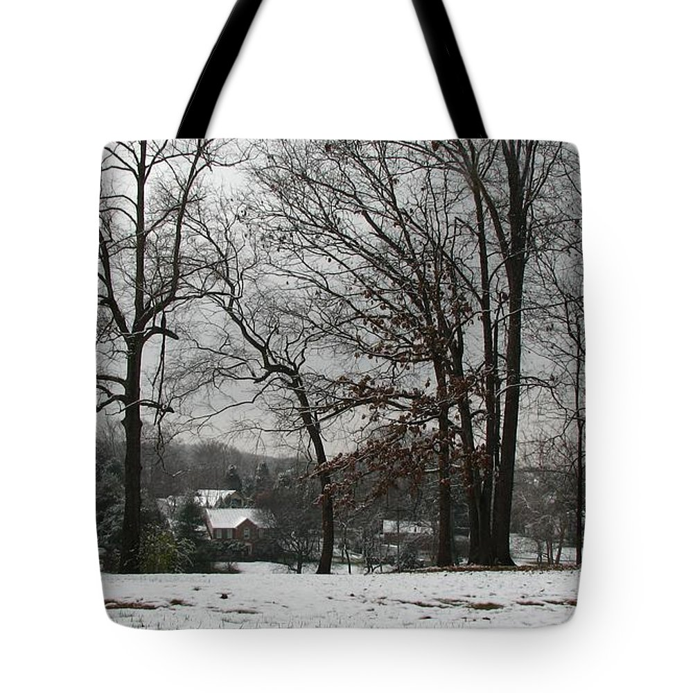 Landscape Tote Bag featuring the photograph East Tennessee Winter by Todd Blanchard