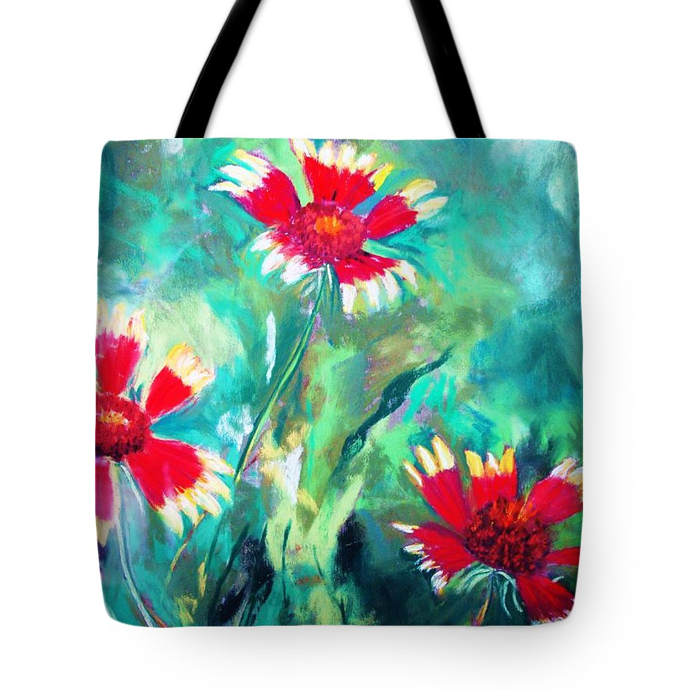 Flowers Tote Bag featuring the painting East Texas Wild Flowers by Melinda Etzold