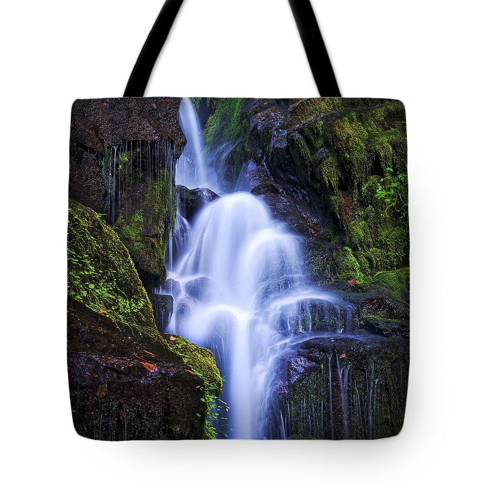 Eastatoe Falls Tote Bag featuring the photograph Eastatoe Falls Detail #8 by Matt Plyler