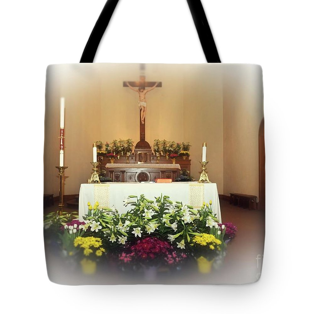 Easter Tote Bag featuring the photograph Easter Alter by Kathleen Struckle