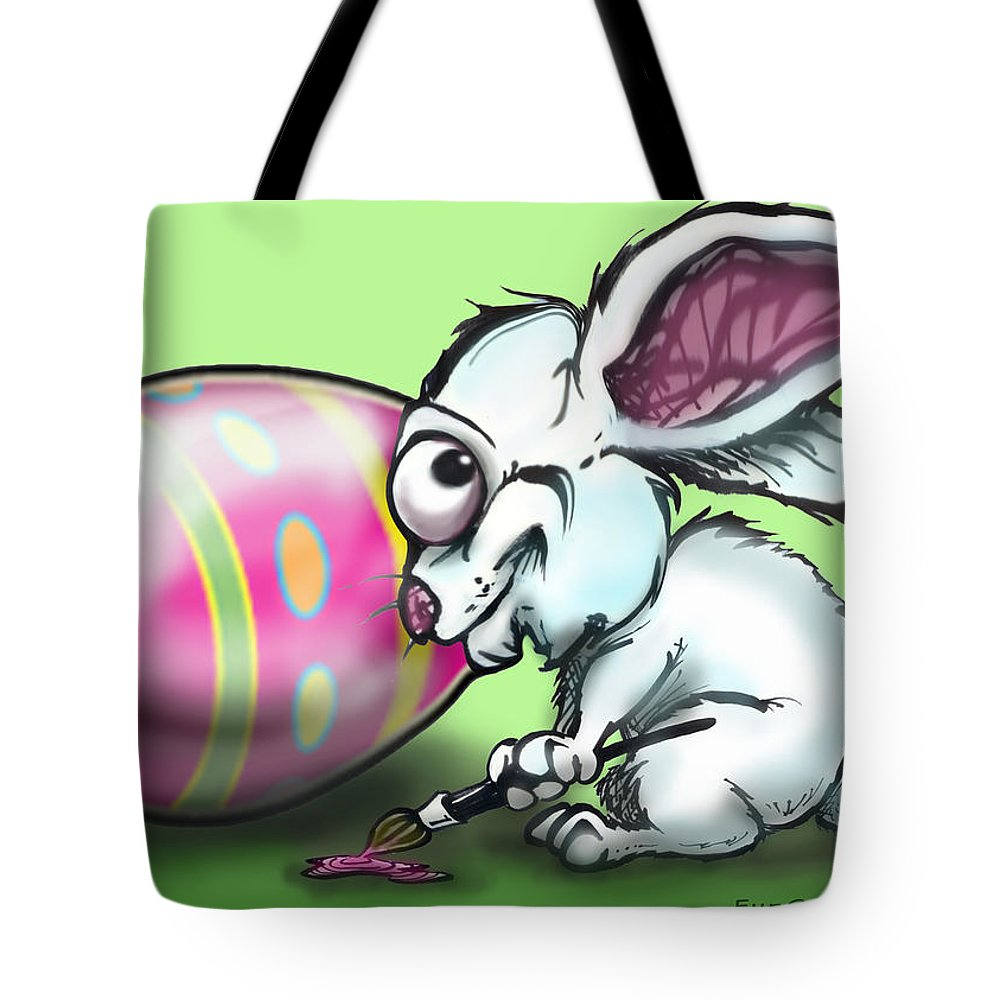 Easter Tote Bag featuring the digital art Easter Bunny by Kevin Middleton