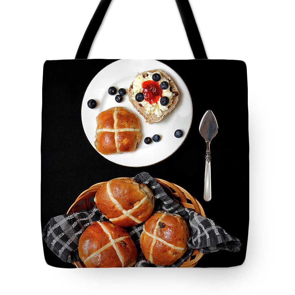 Hot Tote Bag featuring the photograph Easter Hot Cross Buns by Nicholas Burningham