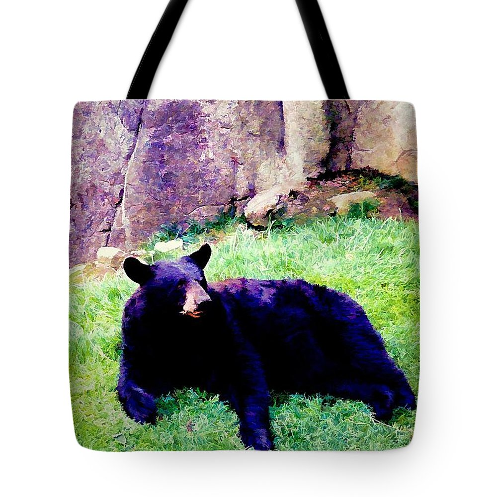 Animals Tote Bag featuring the photograph Eastern Black Bear by Jan Amiss Photography