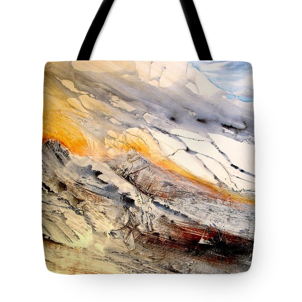 Landscape Tote Bag featuring the painting Eastern Sierra by Paul Miller