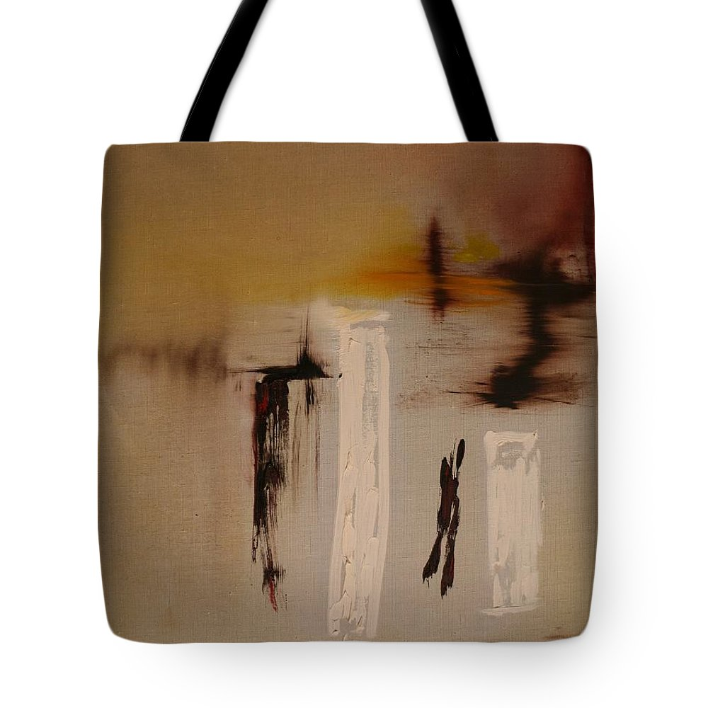 Abstract Tote Bag featuring the painting Easy by Jack Diamond