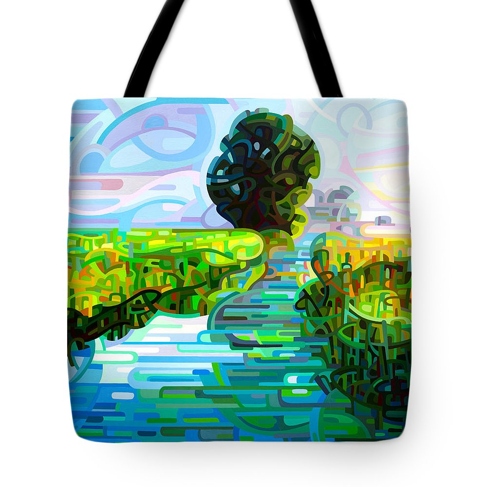Stream Tote Bags