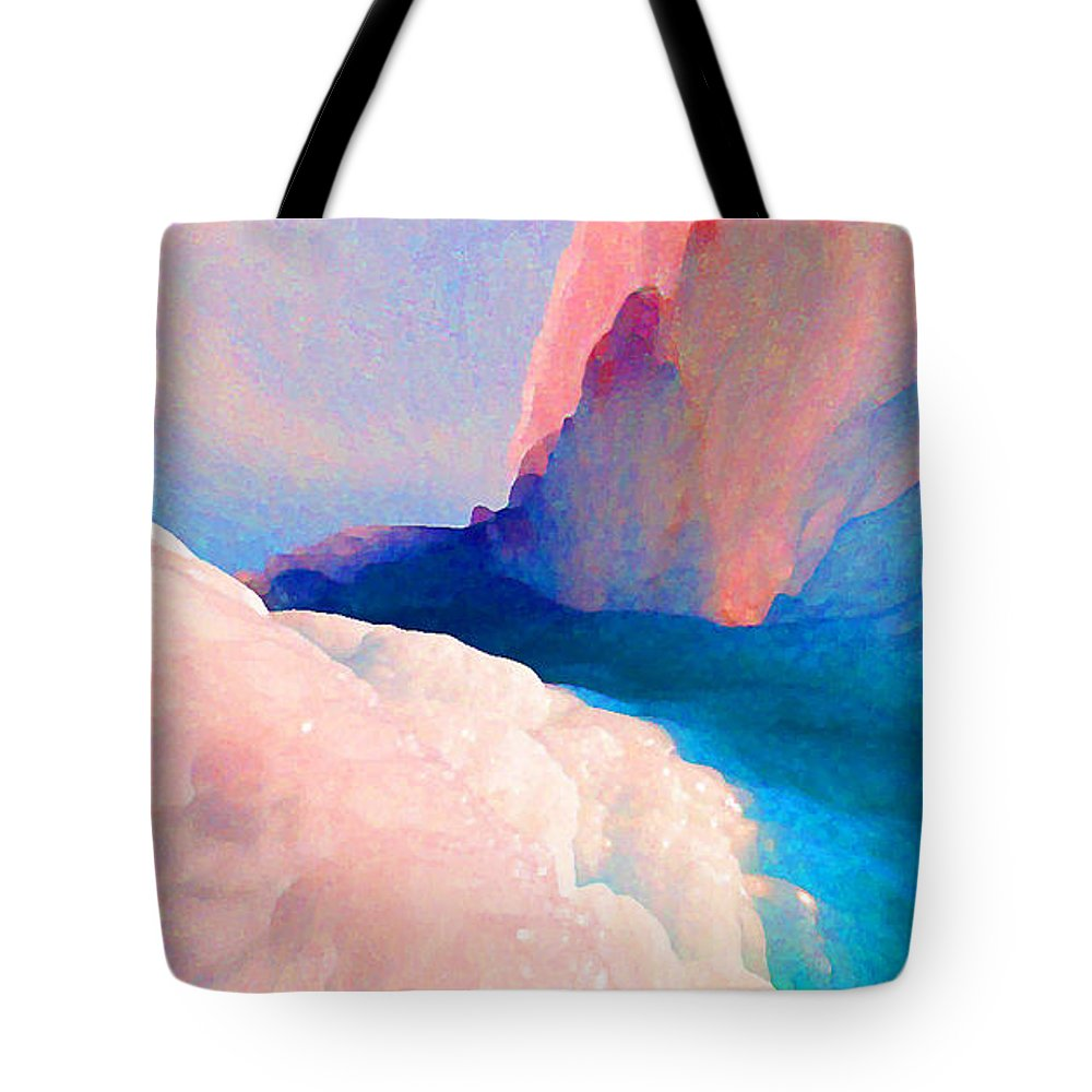 Abstract Tote Bag featuring the photograph Ebb and Flow by Steve Karol