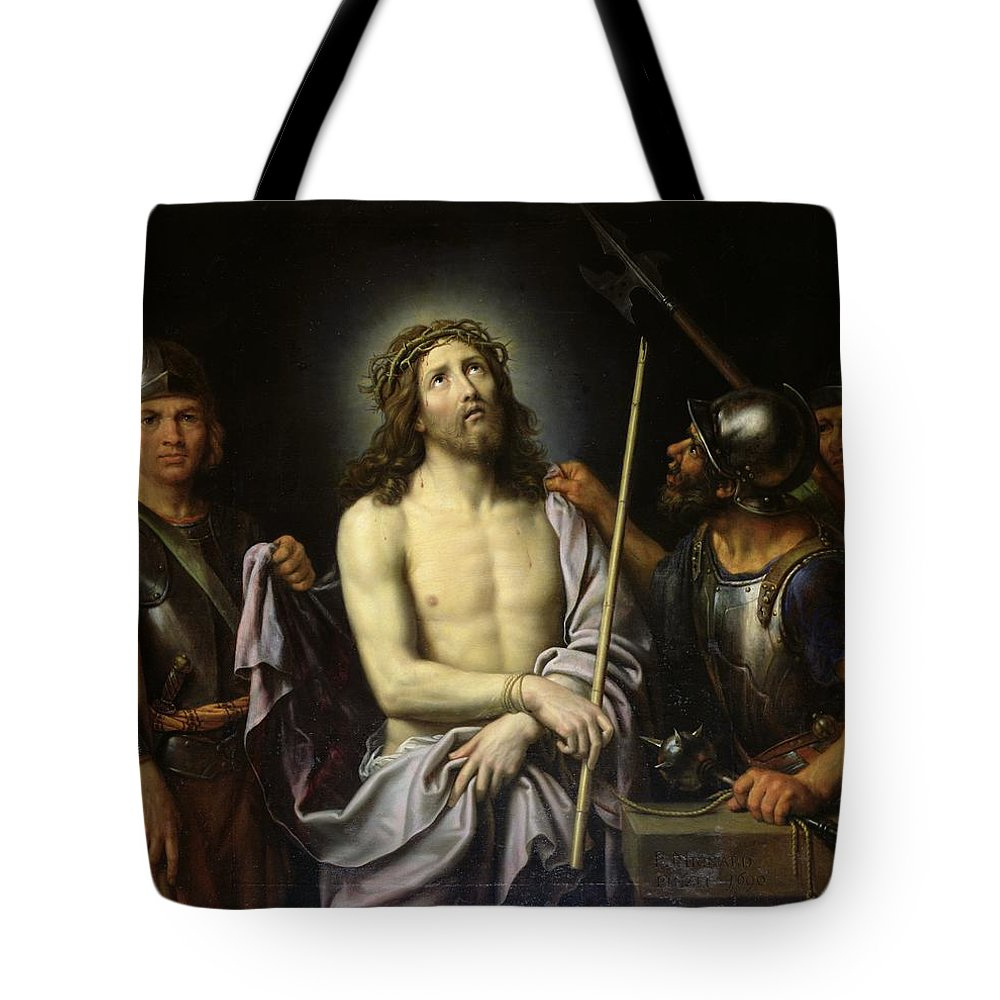Ecce Tote Bag featuring the painting Ecce Homo by Pierre Mignard