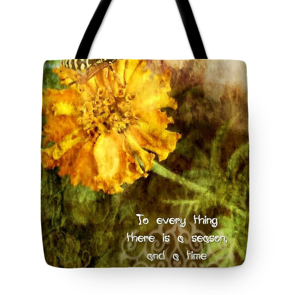 Jesus Tote Bag featuring the digital art Ecclesiastes 3 1 by Michelle Greene Wheeler