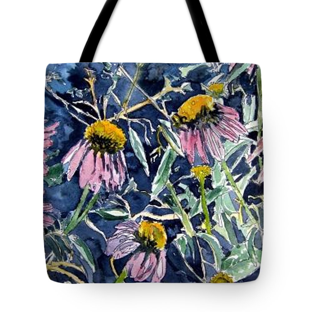 Echinacea Tote Bag featuring the painting Echinacea Cone Flower Art by Derek Mccrea