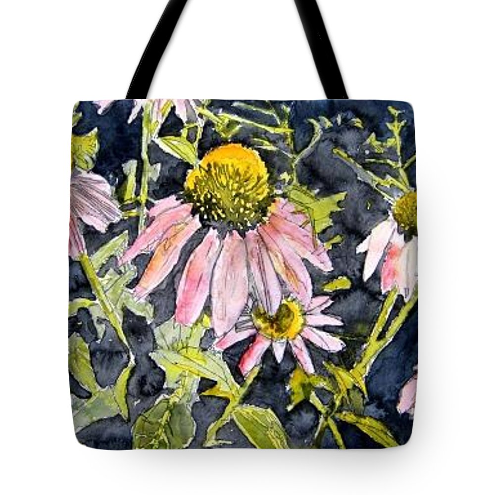 Echinacea Tote Bag featuring the painting Echinacea Coneflower 2 by Derek Mccrea