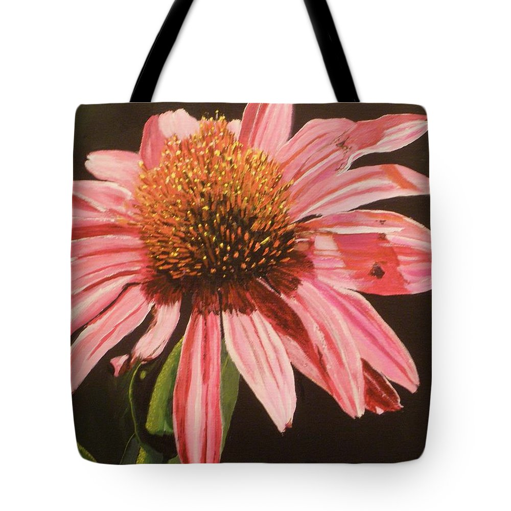 Echinacea Flower Tote Bag featuring the painting Echinacea Flower by Betty-Anne McDonald