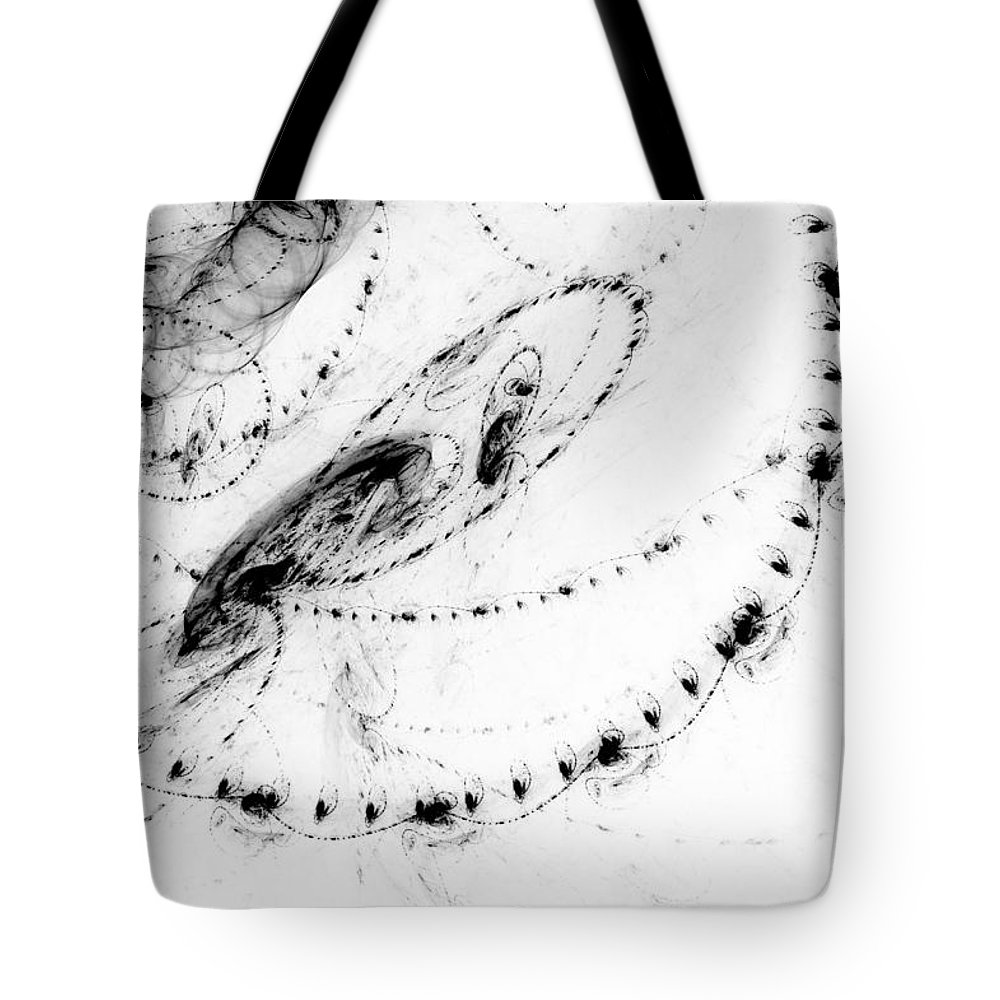 Abstract Tote Bag featuring the digital art Echo 3 by Scott Norris