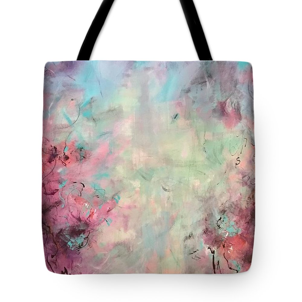 Abstract Art Tote Bag featuring the painting Echoes Of Joy by Suzzanna Frank