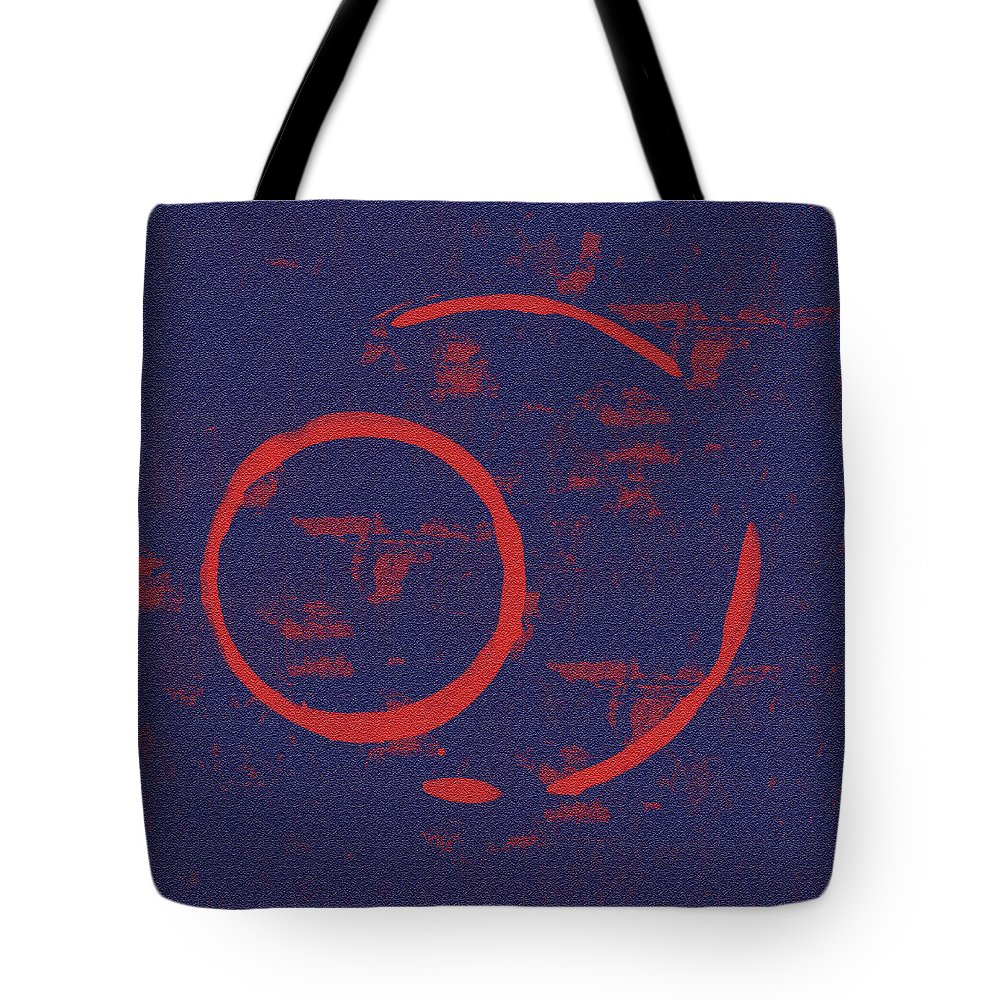 Abstract Expressionism Digital Art Tote Bags