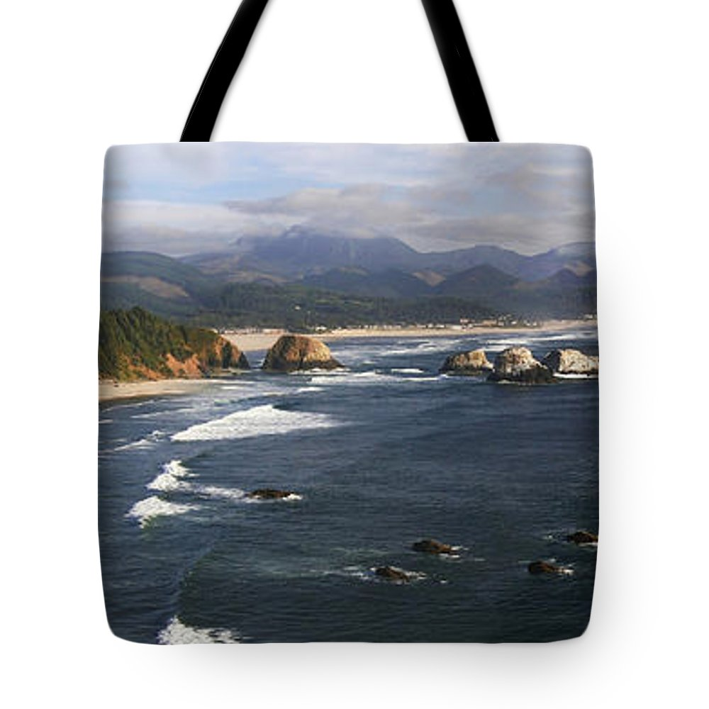 Ocean Tote Bag featuring the photograph Ecola Vista by Winston Rockwell
