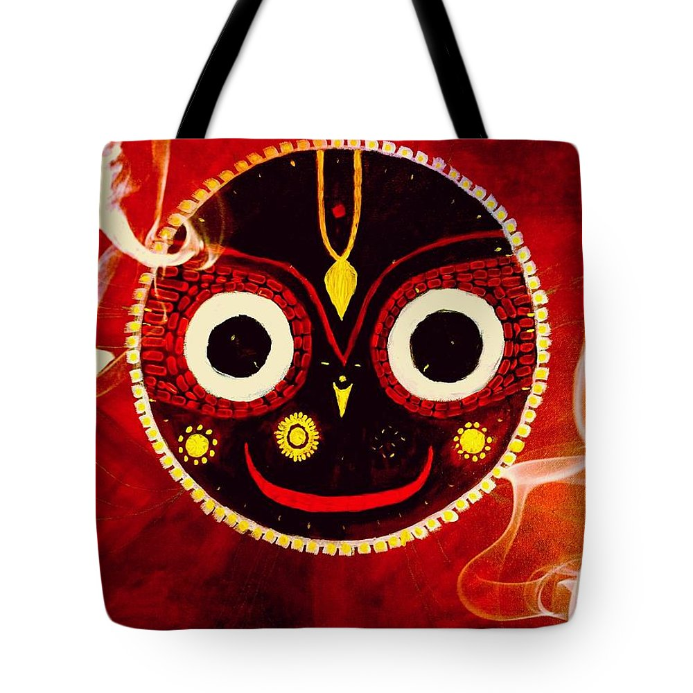 Ecstasy Tote Bag featuring the painting Ecstasy In Love by Michael African Visions