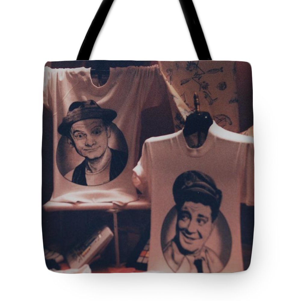 The Honeymooners Tote Bag featuring the photograph Ed And Ralphie Boy by Rob Hans