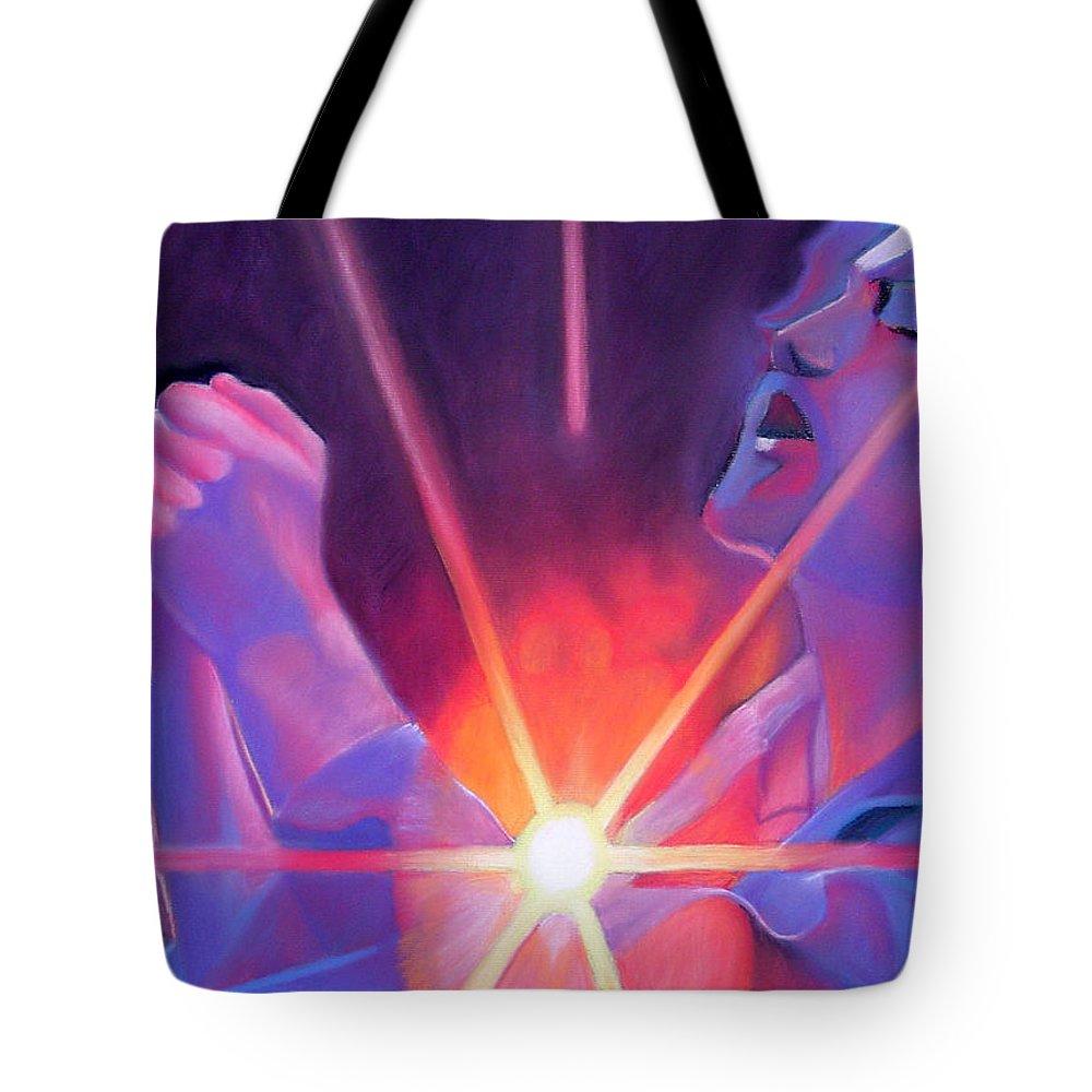 Eddie Vedder Tote Bag featuring the drawing Eddie Vedder And Lights by Joshua Morton