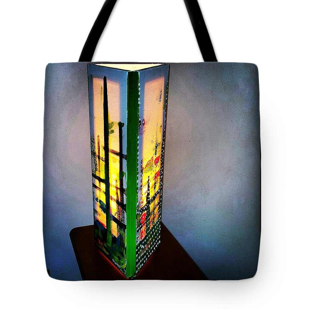 Tote Bag featuring the painting Eden Lamp by Valentin Quintana