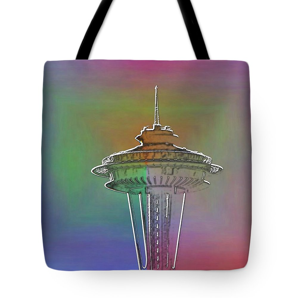 Seattle Tote Bag featuring the photograph Edge Of The Needle by Tim Allen