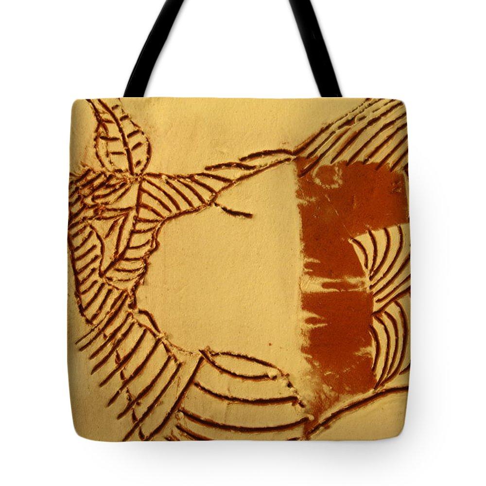 Jesus Tote Bag featuring the ceramic art Edify - Tile by Gloria Ssali