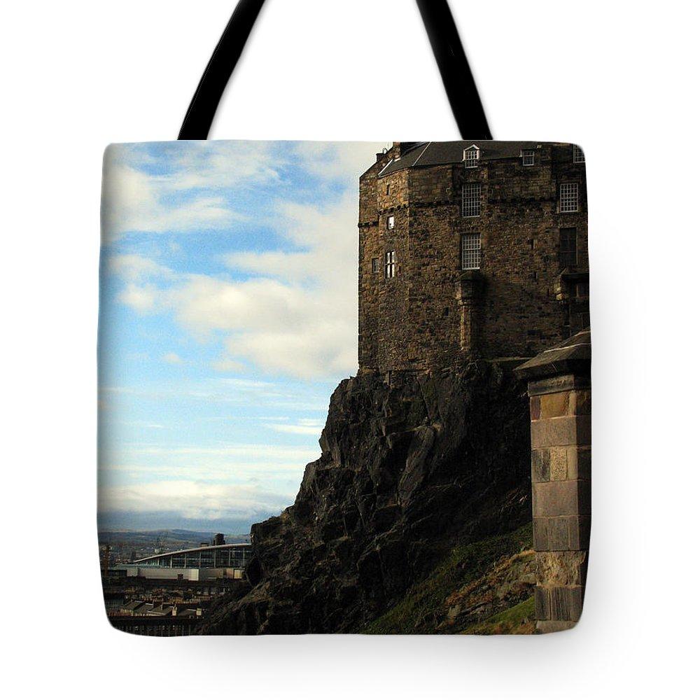 Castle Tote Bag featuring the photograph Edinburgh Castle by Amanda Barcon