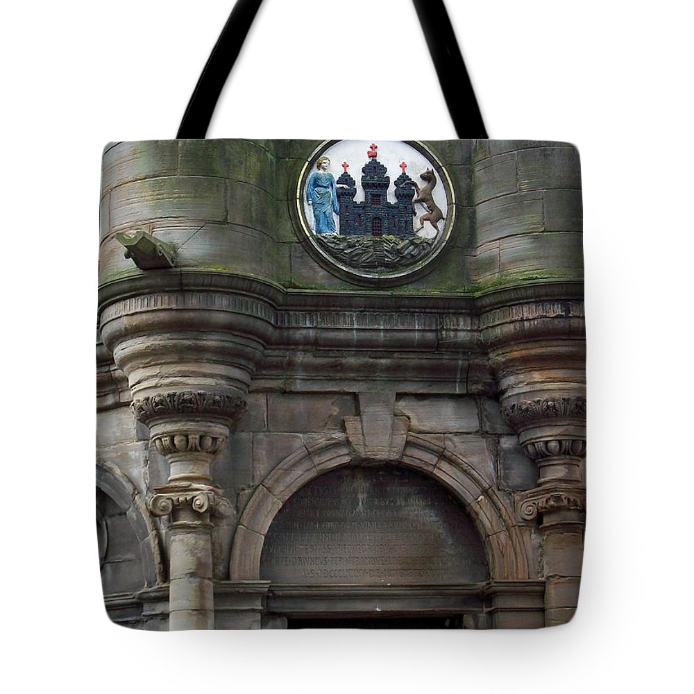 Scotland Tote Bag featuring the photograph Edinburgh Church by Munir Alawi